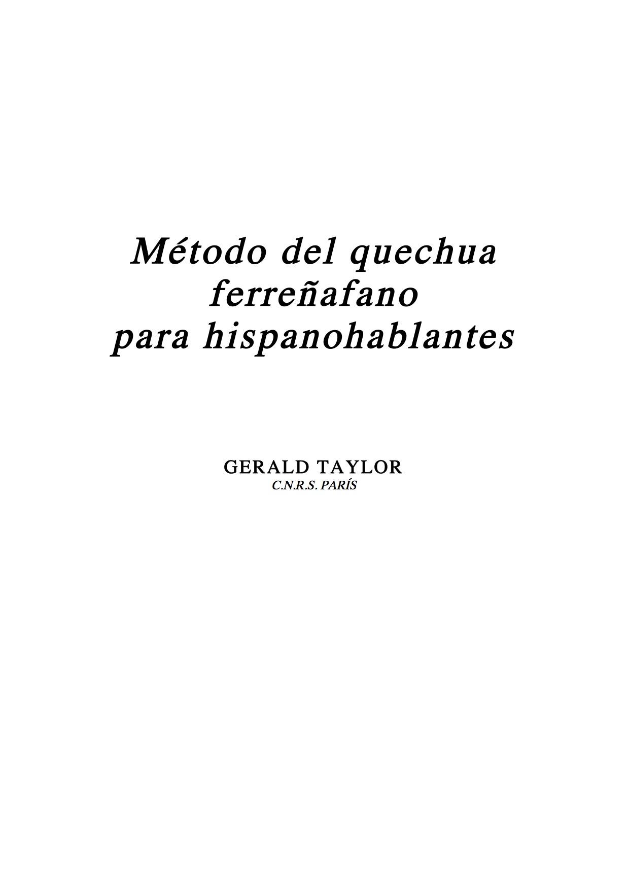 Método del quechua ferreñafano para hispanohablantes